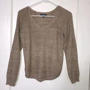 Sweaters - Beige Scoop Sweater